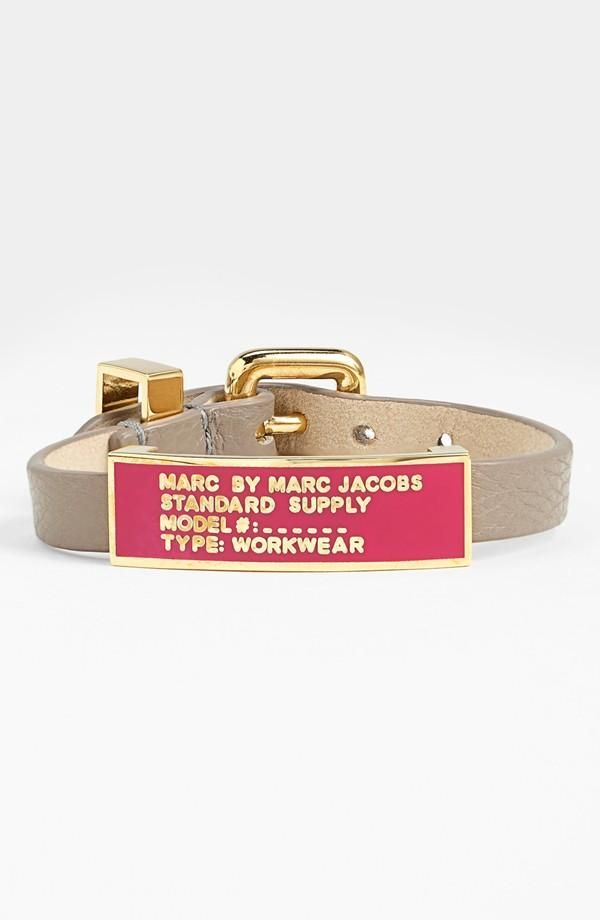 Pink and grey look good together | Marc Jacobs ID bracelet