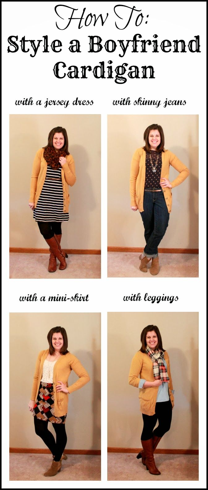 Clothed with Grace: How To: Style a Boyfriend Cardigan
