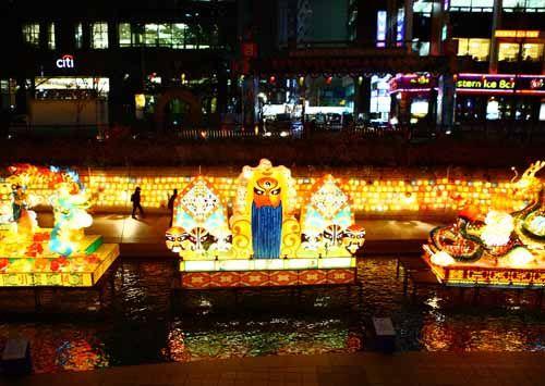 """Años de la Visita a Corea -""""Festival de Faroles en el Arroyo Cheonggyecheon""""-"""