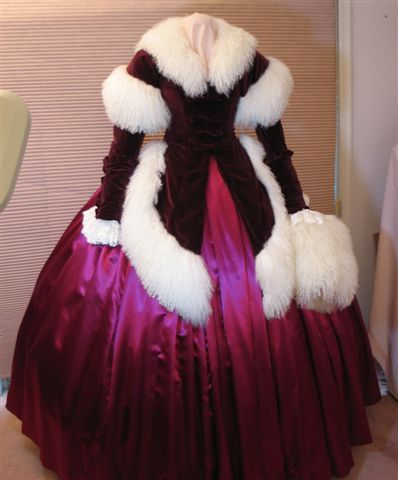 "Belle Watling reproduction of the ""Santa Suit,"" a less-celebrated wardrobe change from Gone With the Wind, via Flickr."