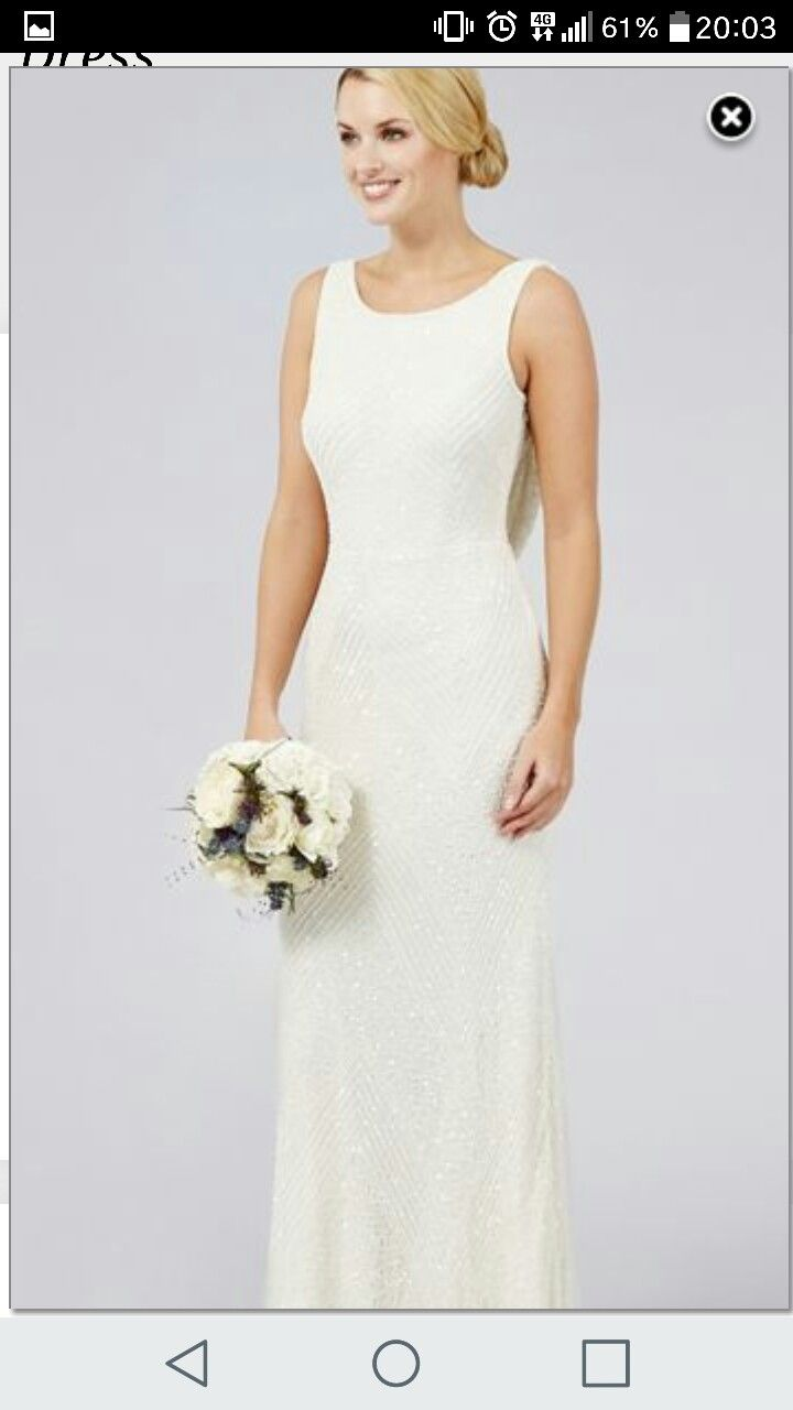 21 best moh look images on pinterest adrianna papell bride this dress from debut effortlessly channels the twenties with its shimmering bead and sequin embellishment finished with a beautiful draped back with a ombrellifo Images