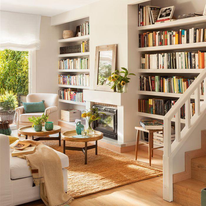 Pon una librería en casa... ¡y gana almacenaje y estilo!