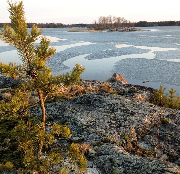 Melting ice. Rauma archipelago
