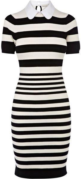 Karen Millen Stripe Knit Collection Dress - Lyst