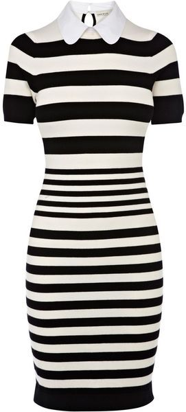 KAREN MILLEN ENGLAND Stripe Knit Collection Dress - Lyst