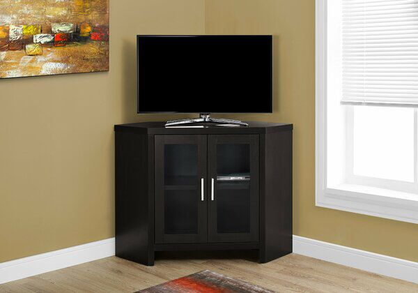 Millste Tv Stand For Tvs Up To 48 In 2020 Tv Stand With Glass Doors Corner Tv Stand Monarch Specialties