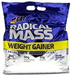 GAT Radical Mass Top Weight Gainer For Building Size & Strength Faster Premium Muscle Builder with milkshake flavor Vanilla Milkshake 10 Pounds Reviews