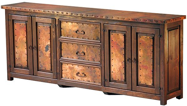 63 best mexican painted furniture images on pinterest for Sideboard vollholz