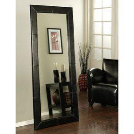 Pacific Loft Logan 30-In X 70-In Black Rectangular Framed Contemporary Floor Mirror Atg7925093