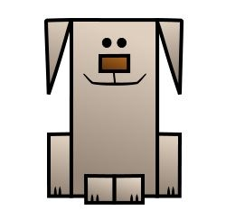 dog cartoon draw basic drawing shapes simple drawings lessons cartoons funny animals using triangles figures squares