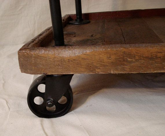 Rustic Utility Cart by RetroWorksStudio on Etsy