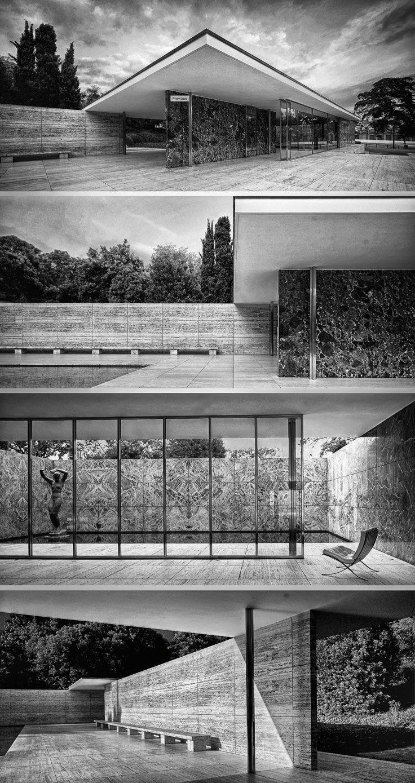 Ludwig Mies van der Rohe • El Pabellón Alemán de Barcelona, 1929. Barcelona, España