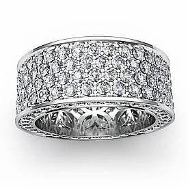 The 25+ best Wide diamond wedding bands ideas on Pinterest | Wide ...