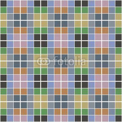 Design | Piastrellato colorato | Quadrati piastrellato, quadrati, design, artistico, trama tessuto, trame, colori, colorato, geometrie, rosa, verde, scuro, chiaro, azzurro, grigio, arancione, nero, bianco, sfondo