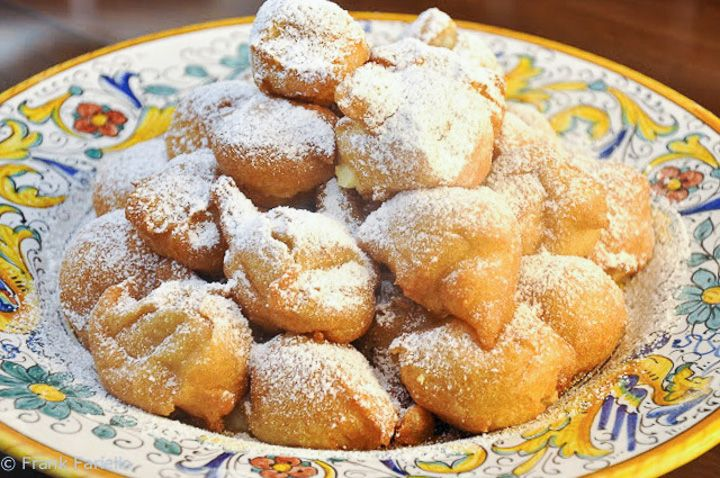 Bignè di san Giuseppe (St. Joseph's Day Cream Puffs)  Being a Catholic country, Father's Day is Italy is celebrated on March 19, the feast of St. Joseph. The feast is associated with a number of sweet and savory dishes, but none more so perhaps than the  fancy, sweet version of zeppole usually called, appropriately enough, zeppole di san Giuseppe. Romans  make their own homier version of this treat that they call bignè di san Giuseppe.