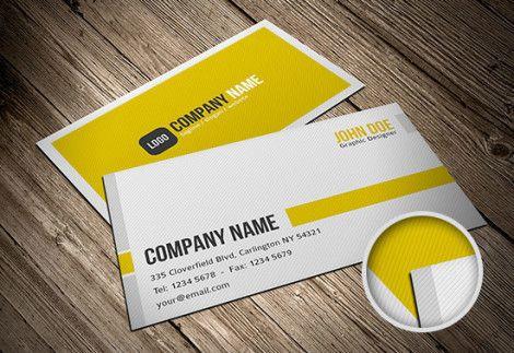 Simple Minimalist Business Card Template (PSD)
