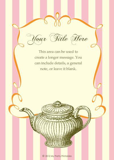 Best Invitations To Tea Images On   Invitations Tea