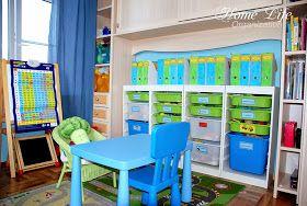 Организация детской комнаты: хранение конструкторов