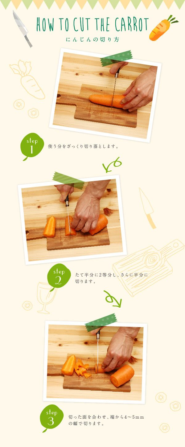 How to cut the carrot