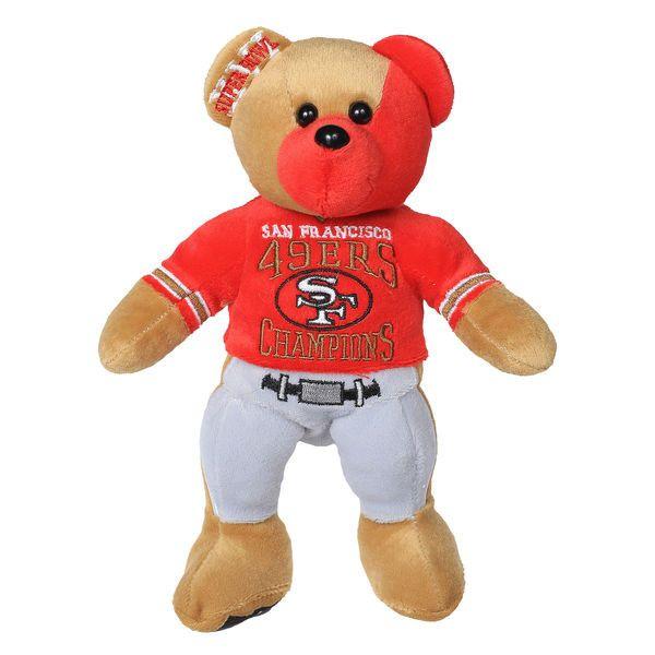 San Francisco 49ers Super Bowl XVI Champions Thematic Bear