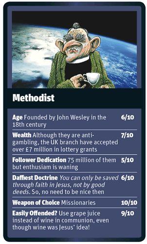 God Trumps Methodist card