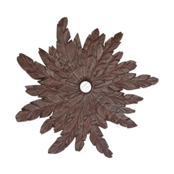 Mahogany Tropical Palm Ceiling Medallion