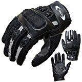 sparen25.de , sparen25.info#10: Motorradhandschuhe PROANTI® Motorrad Handschuhe Sommer (Gr. XS - XXL, schwarz, kurz) - Lsparen25.com