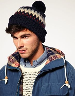 gant fairisle bobble hat