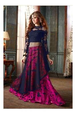 Rahi Fashion Blue And Pink Indo Wstern Lehenga Choli Rf20385 Lehengas on Shimply.com