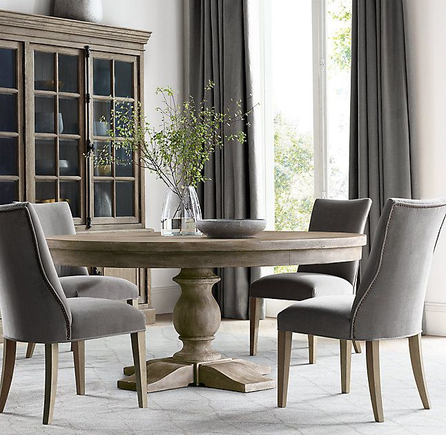 Best 25 round dining tables ideas on pinterest round for Long dining room table decor