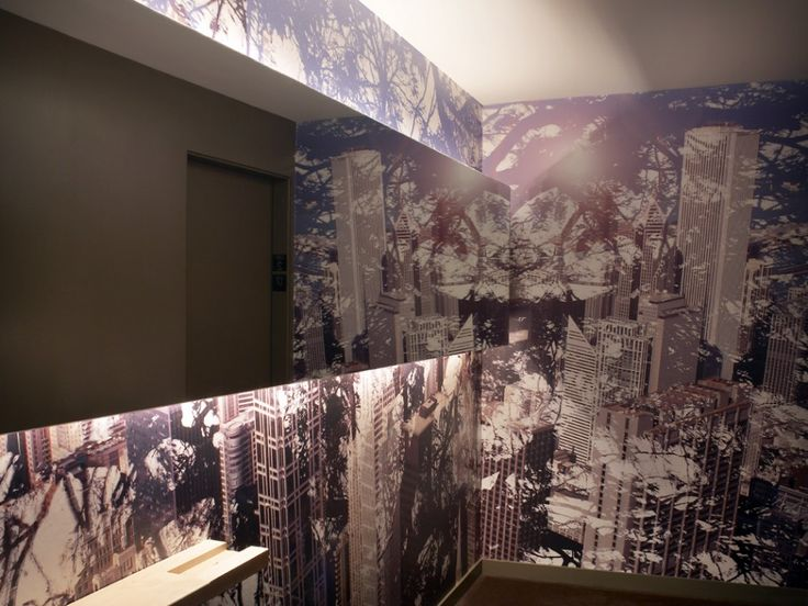 2011 The James Hotel Digitally printed wallpaper realized on 14 floors