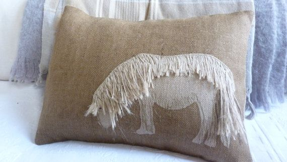 hand printed appliquéd natural brown shetland pony by helkatdesign, $76.00