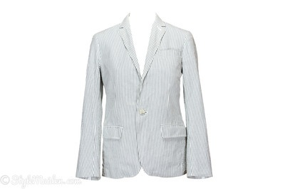 CLUB MONACO One-Button Cotton Stripped Blazer Size 36 at http://stylemaiden.com