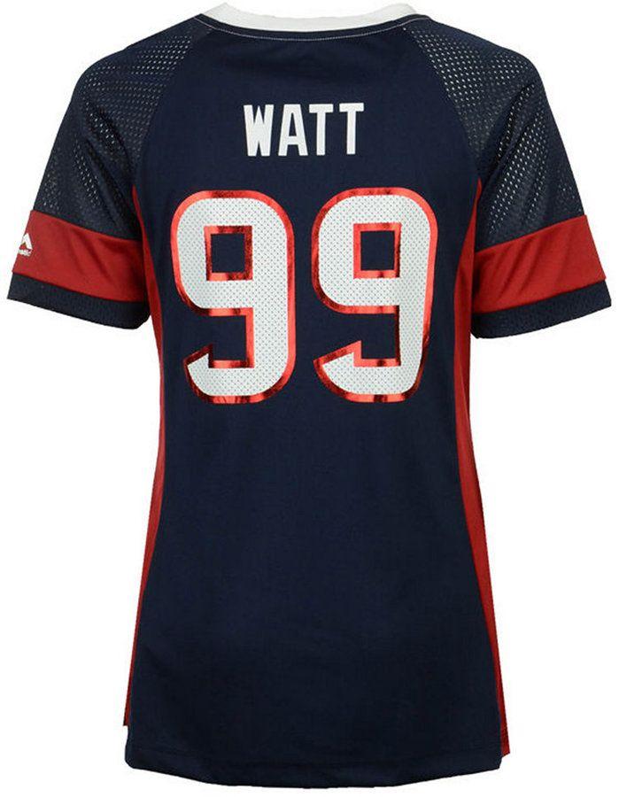 Majestic Women's J.j. Watt Houston Texans 2017 Draft Him T-Shirt