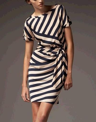 Платье в полоску D.V.F