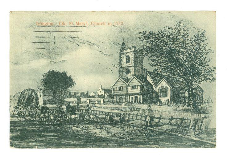 London, Islington, Old St Mary's Church in 1742.
