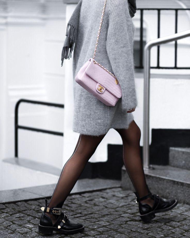 Chanel pink bag - balenciaga ceinture boots