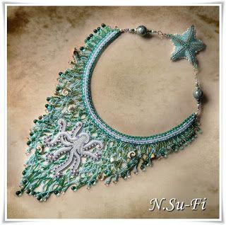 """Biżuteria od N.Su-Fi: Naszyjnik konkursowy """"Podwodny Świat""""."""