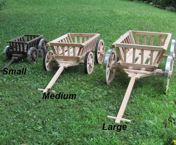 Medium Flower Girl Wedding Wagon  Unfinished by Miniwagons on Etsy, $179.00