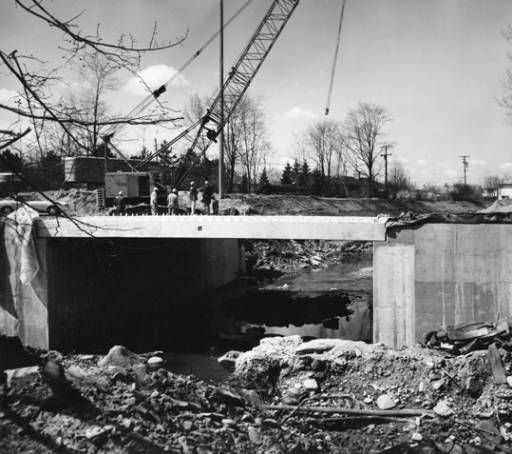 York Road Relocation :York to Pearl & Stumph Bridge at York and Ridgewood. 1974