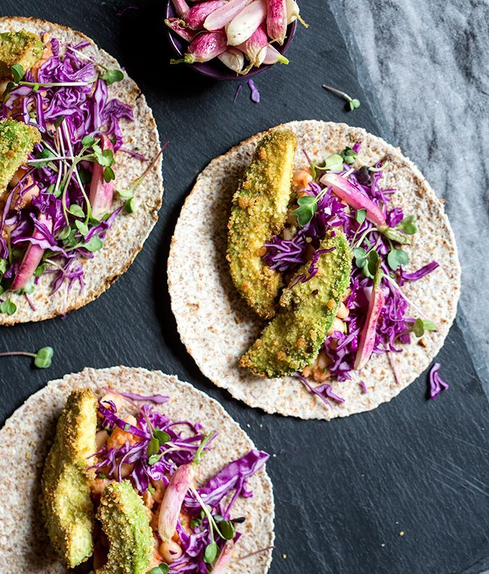 Crispy avocado tacos from What's Cooking Good Looking blog