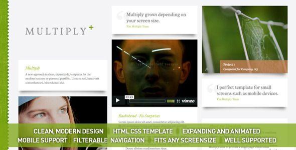 Multiply - Blog and Portfolio HTML/CSS Templates - Creative Site Templates