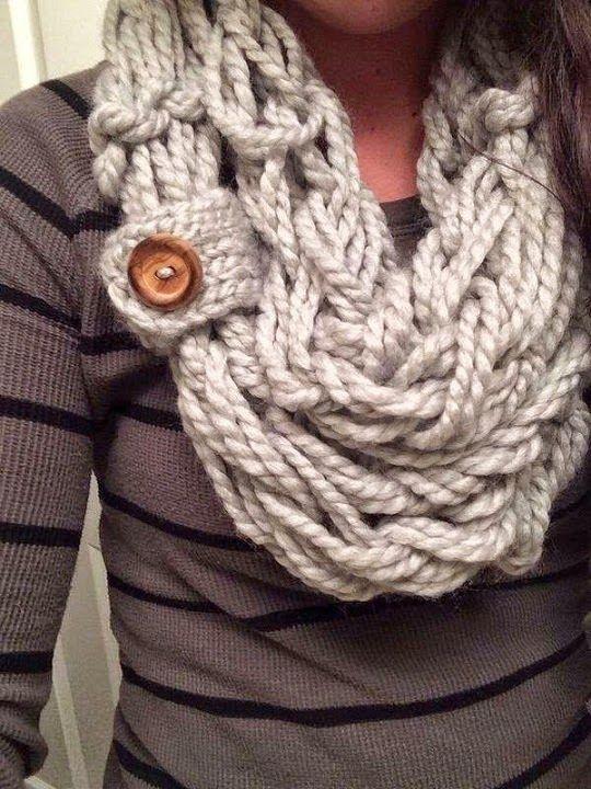 Caramel Cozy Crocheted Scarf #knit #warmth