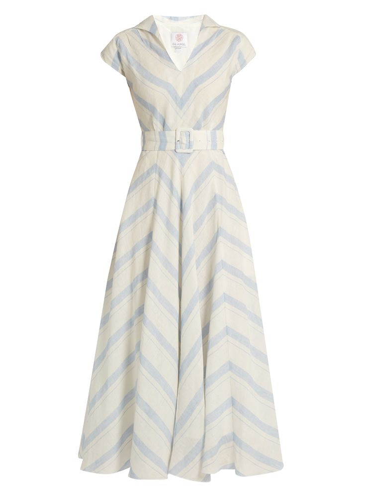 Chevron-striped linen dress | Gül Hürgel | MATCHESFASHION.COM
