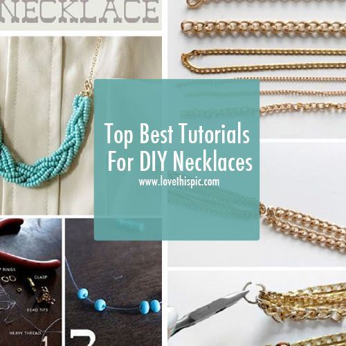 189 best jewelry images on pinterest jewerly bangle and build top best tutorials for diy necklaces jewelry necklace diy craft diy crafts do it yourself crafty solutioingenieria Images