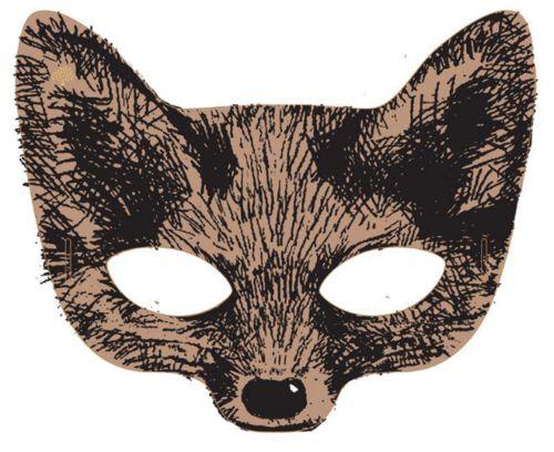 #fox #mask Dat is leuk! Eens kijken of er knuffel zijn die een vossenmasker leuk staat. Schaapjes of zo!