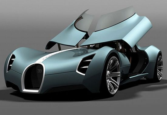 Bugatti Aerolithe opens the doors upwards to lift the dashboard | Designbuzz : Design ideas and concepts