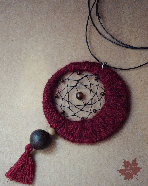 Handmade Dreamcatcher Necklace Free Shipping by CatArtistic