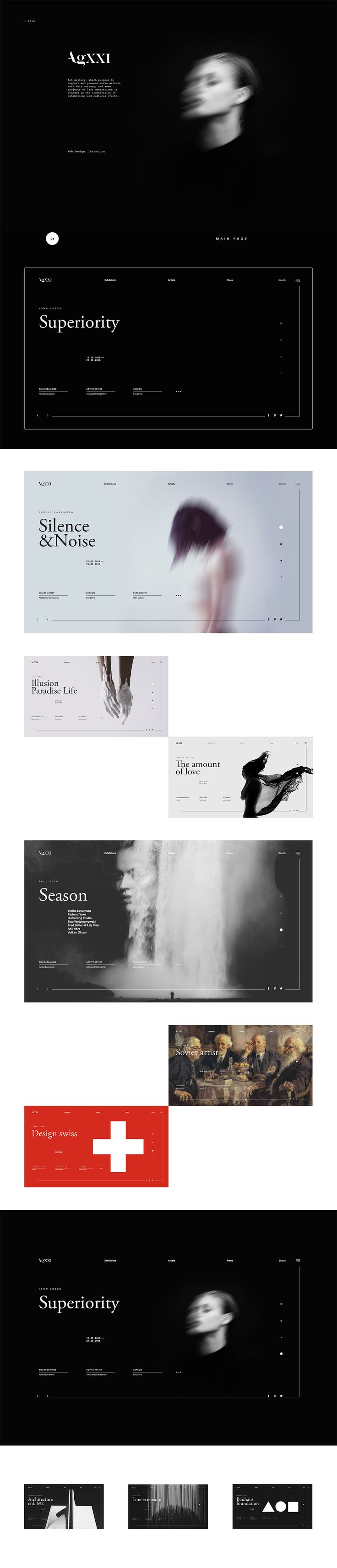 AgXXI | Website #1 #web #design #art #gallery #UI #iteractions