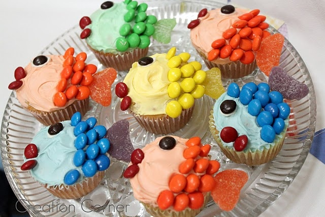 Fishie Cupcakes